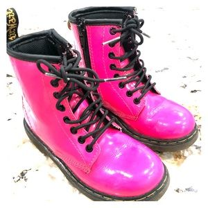 Dr. Martens children hot pink boots size 11